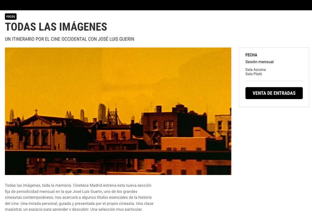 Todas la imágenes. Cineteca de Madrid